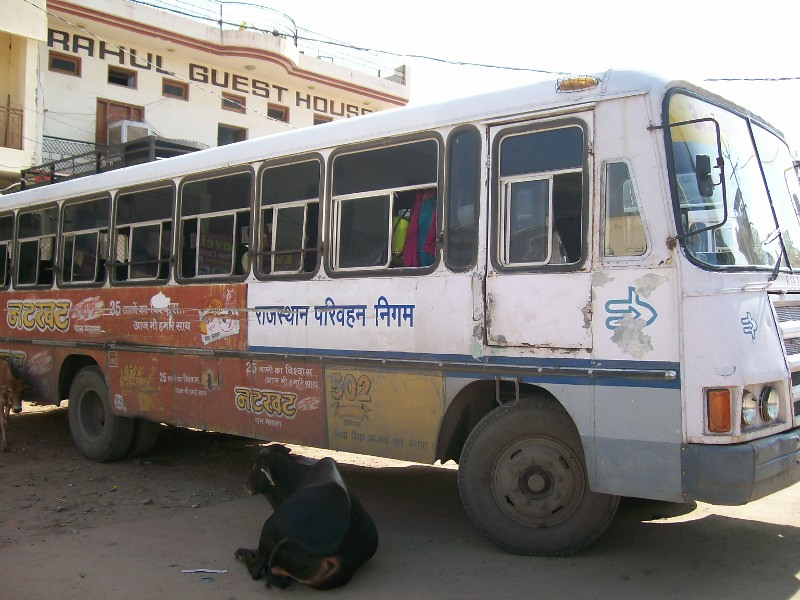 "Rajasthan bus that""s seen better days."