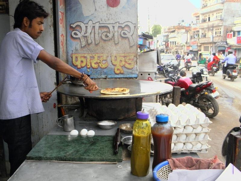 Egg Roll Stand, Varanasi